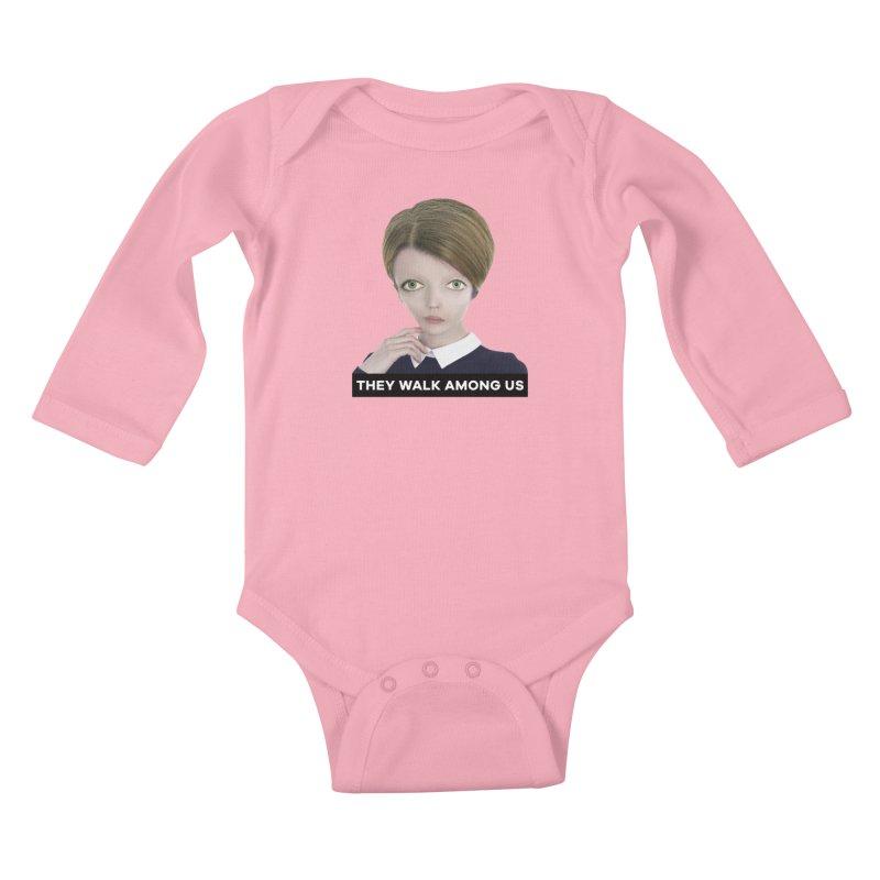 They Walk Among Us Kids Baby Longsleeve Bodysuit by The Rake & Herald Online Clag Emporium