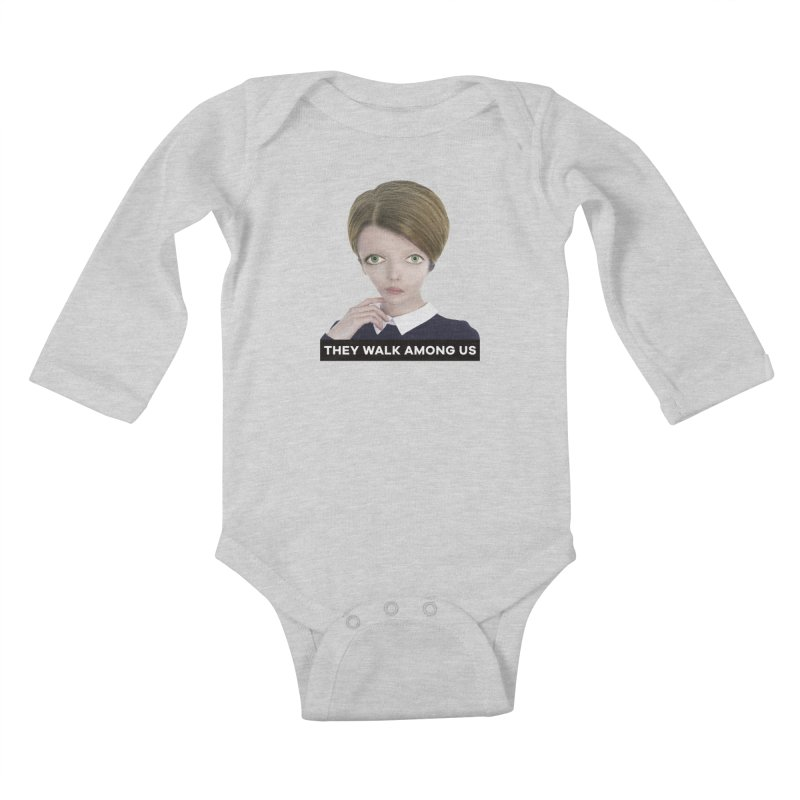 They Walk Among Us Kids Baby Longsleeve Bodysuit by The Rake & Herald Online Clag Emporium