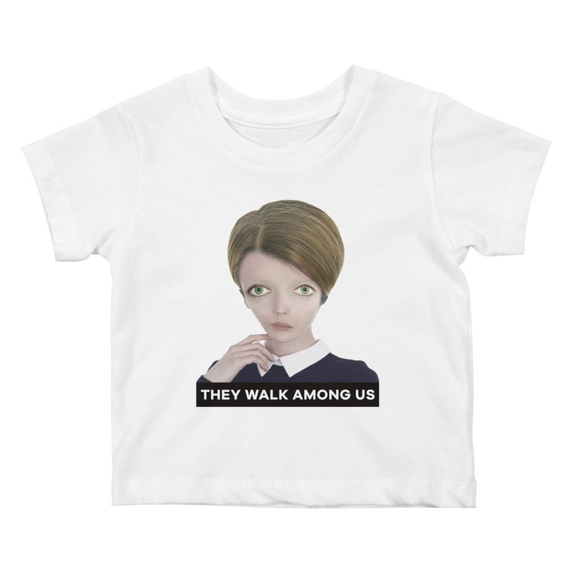 They Walk Among Us Kids Baby T-Shirt by The Rake & Herald Online Clag Emporium