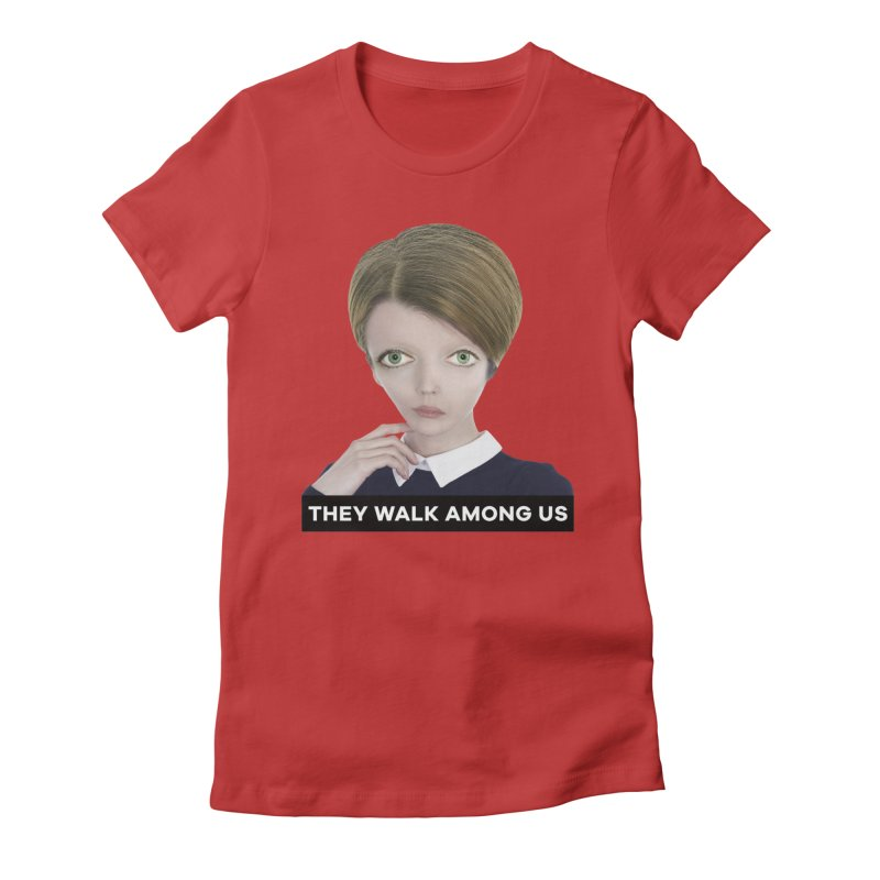 They Walk Among Us Women's Fitted T-Shirt by The Rake & Herald Online Clag Emporium