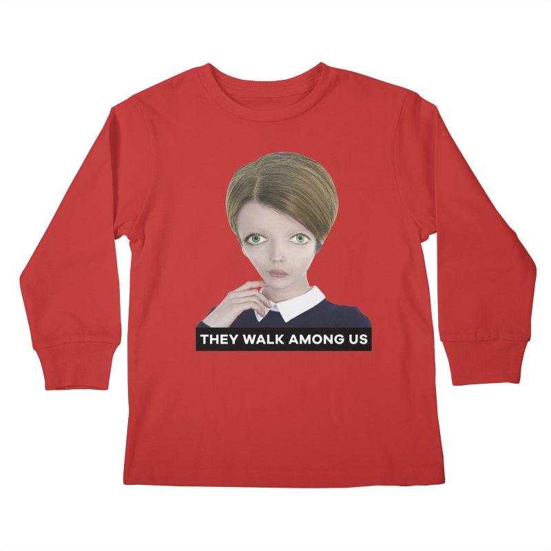 They Walk Among Us Kids Longsleeve T-Shirt by The Rake & Herald Online Clag Emporium