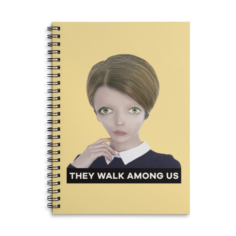 They Walk Among Us Accessories Lined Spiral Notebook by The Rake & Herald Online Clag Emporium