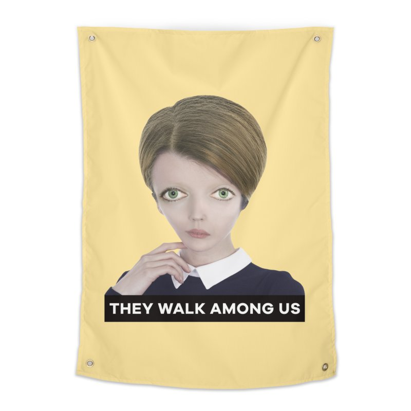 They Walk Among Us Home Tapestry by The Rake & Herald Online Clag Emporium