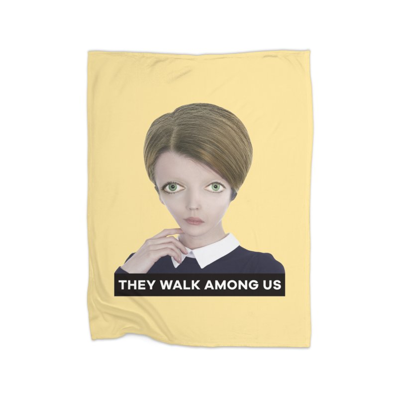 They Walk Among Us Home Fleece Blanket Blanket by The Rake & Herald Online Clag Emporium
