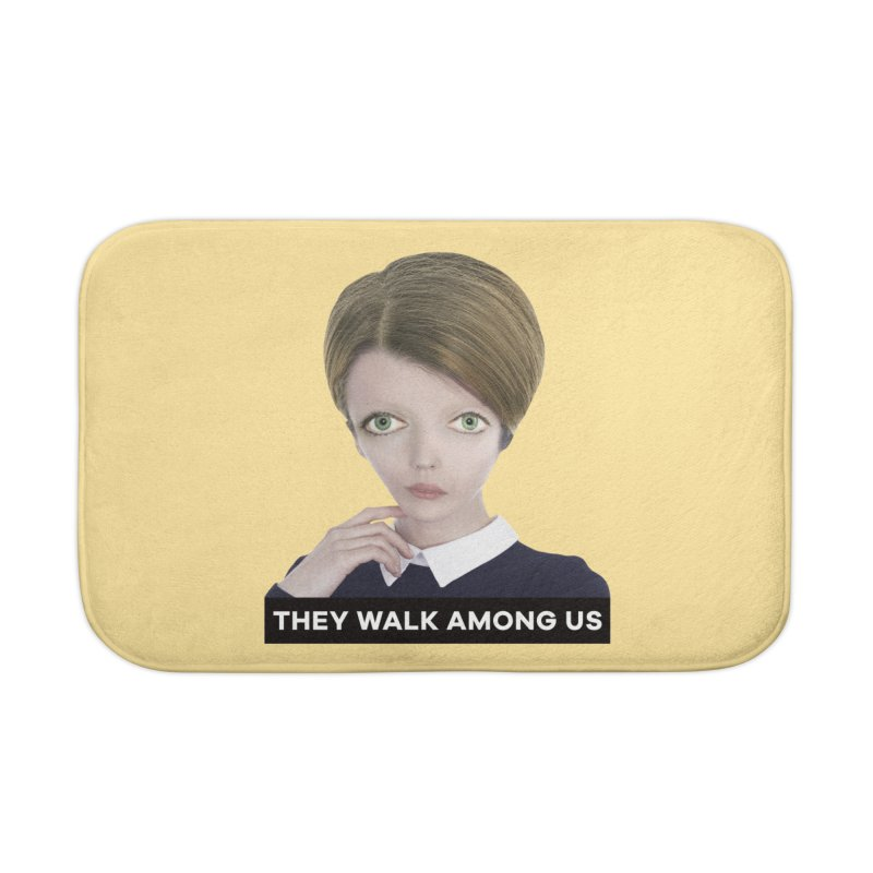 They Walk Among Us Home Bath Mat by The Rake & Herald Online Clag Emporium