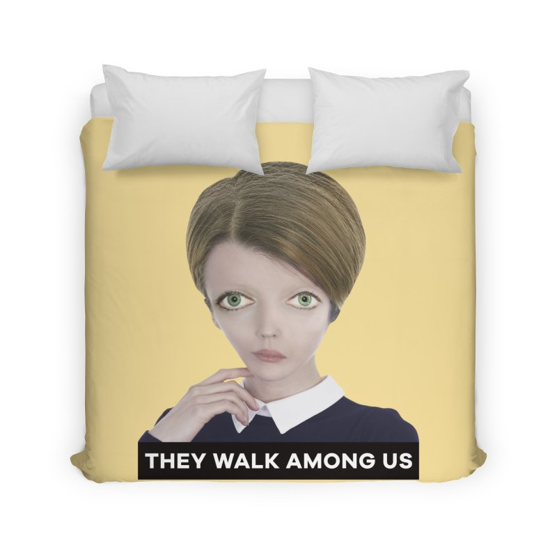 They Walk Among Us Home Duvet by The Rake & Herald Online Clag Emporium
