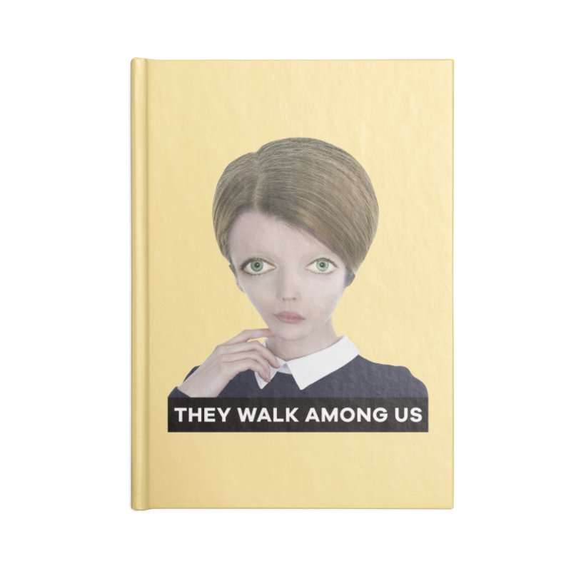 They Walk Among Us Accessories Lined Journal Notebook by The Rake & Herald Online Clag Emporium
