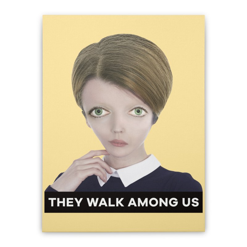 They Walk Among Us Home Stretched Canvas by The Rake & Herald Online Clag Emporium