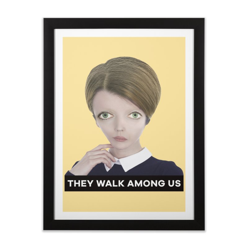 They Walk Among Us Home Framed Fine Art Print by The Rake & Herald Online Clag Emporium