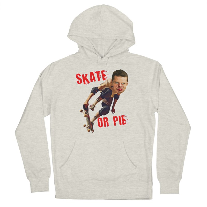 Skate or Pie Men's French Terry Pullover Hoody by The Rake & Herald Online Clag Emporium
