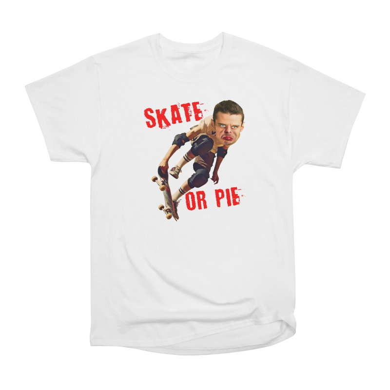 Skate or Pie Men's Heavyweight T-Shirt by The Rake & Herald Online Clag Emporium