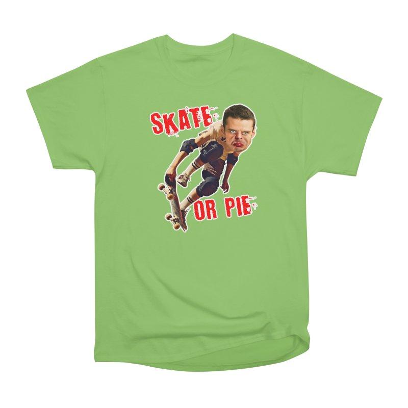 Skate or Pie Women's Heavyweight Unisex T-Shirt by The Rake & Herald Online Clag Emporium