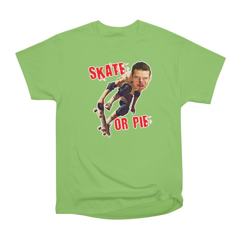 Skate or Pie Men's Heavyweight T-Shirt by The Rake & Herald Online Clag Emporium