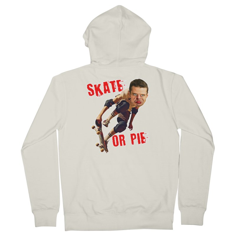 Skate or Pie Women's French Terry Zip-Up Hoody by The Rake & Herald Online Clag Emporium