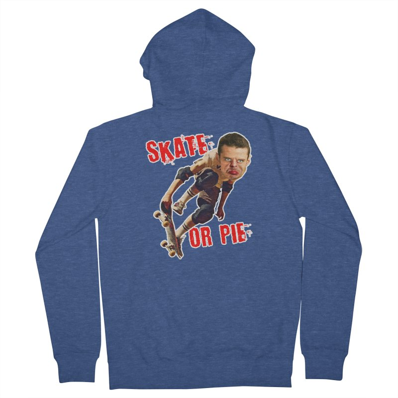 Skate or Pie Men's French Terry Zip-Up Hoody by The Rake & Herald Online Clag Emporium