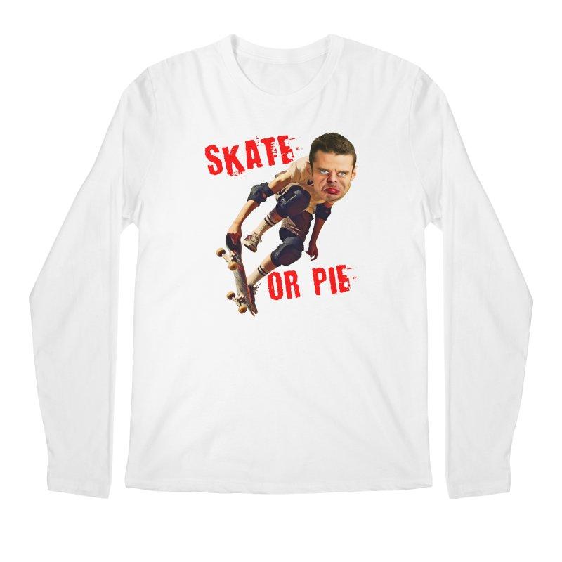 Skate or Pie Men's Longsleeve T-Shirt by The Rake & Herald Online Clag Emporium