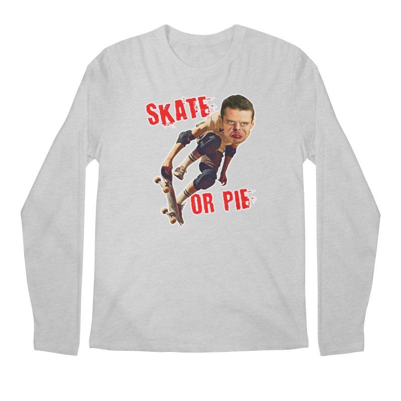 Skate or Pie Men's Regular Longsleeve T-Shirt by The Rake & Herald Online Clag Emporium