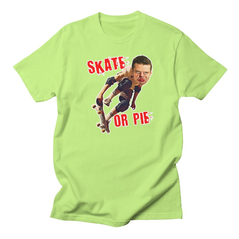 Skate or Pie Men's T-Shirt by The Rake & Herald Online Clag Emporium