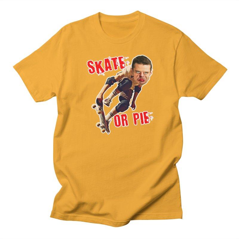 Skate or Pie Women's Regular Unisex T-Shirt by The Rake & Herald Online Clag Emporium