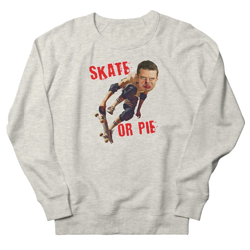 Skate or Pie Men's Sweatshirt by The Rake & Herald Online Clag Emporium
