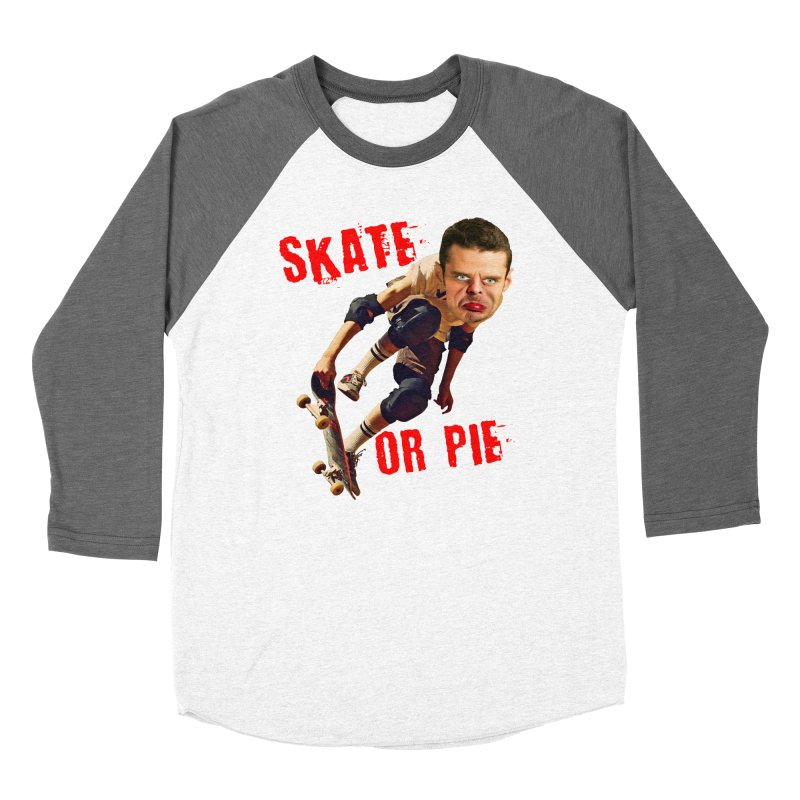 Skate or Pie Women's Baseball Triblend Longsleeve T-Shirt by The Rake & Herald Online Clag Emporium