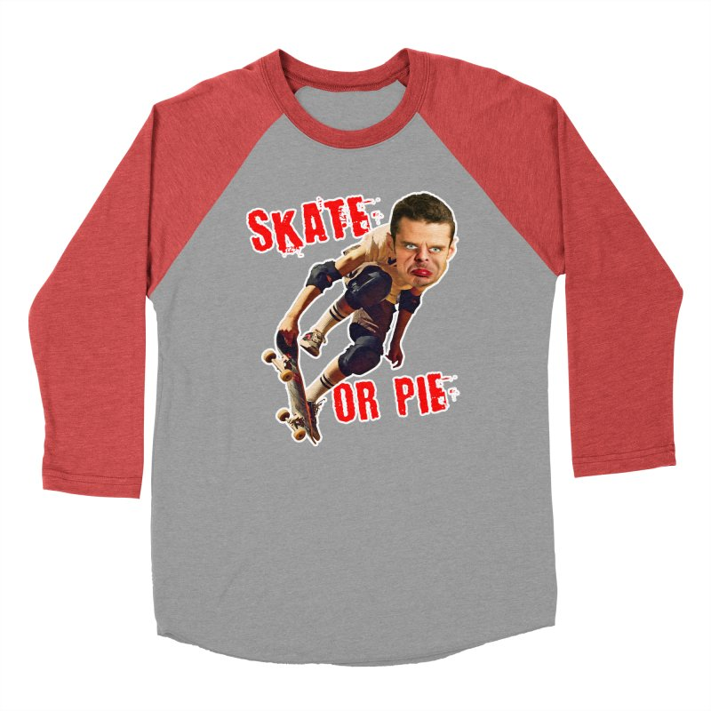 Skate or Pie Women's Baseball Triblend T-Shirt by The Rake & Herald Online Clag Emporium