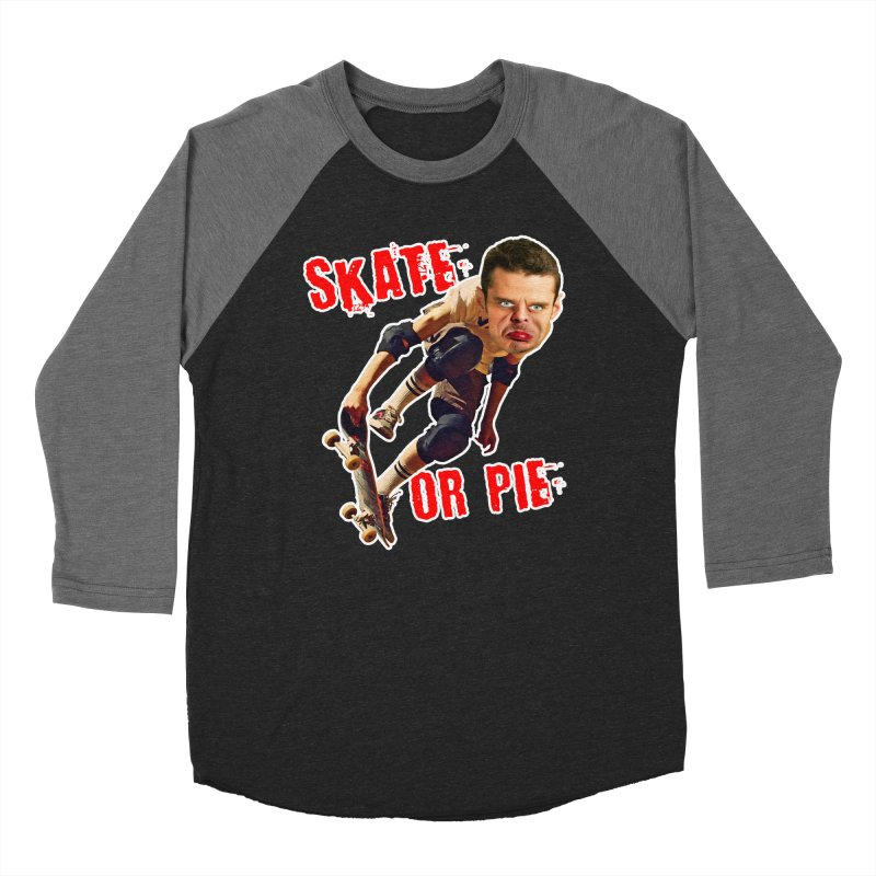 Skate or Pie Women's Baseball Triblend Longsleeve T-Shirt by The Rake & Herald Online Clag Emporium