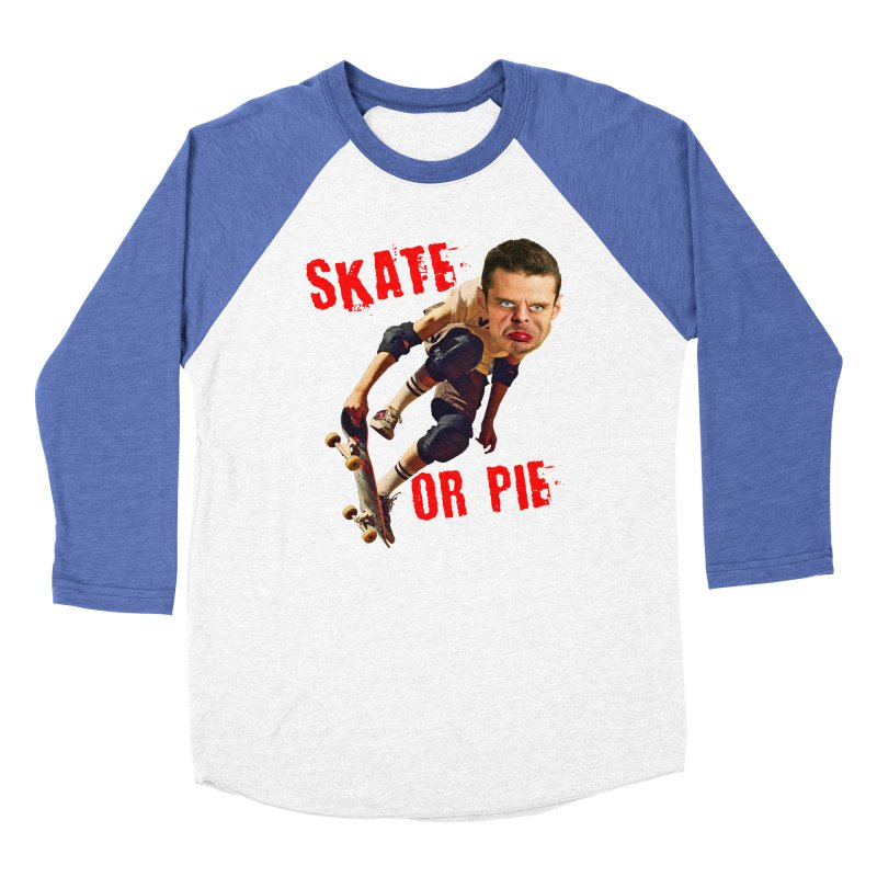 Skate or Pie Men's Baseball Triblend T-Shirt by The Rake & Herald Online Clag Emporium