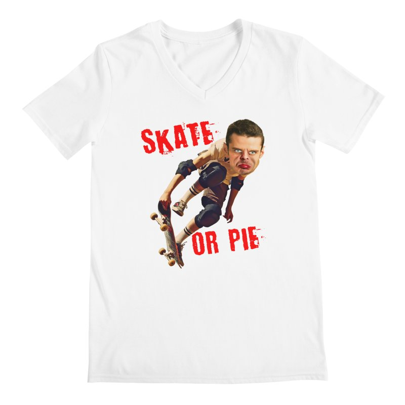 Skate or Pie Men's V-Neck by The Rake & Herald Online Clag Emporium