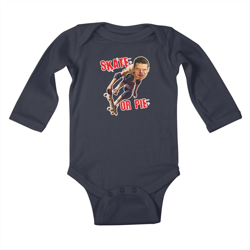 Skate or Pie Kids Baby Longsleeve Bodysuit by The Rake & Herald Online Clag Emporium