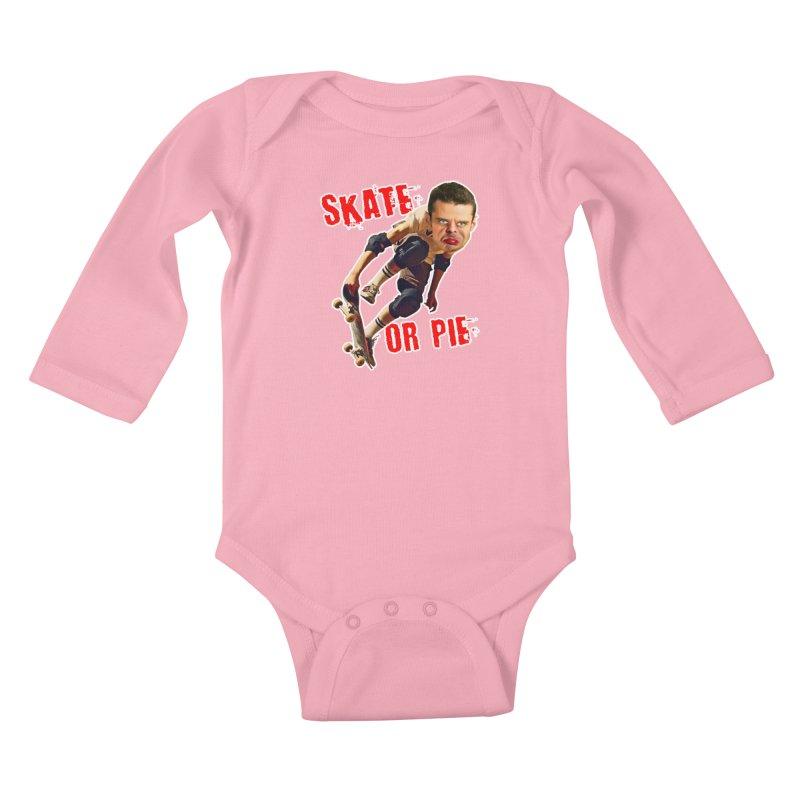 Skate or Pie Kids Baby Longsleeve Bodysuit by The Rake & Herald Online Clag Emporium