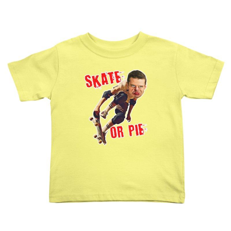 Skate or Pie Kids Toddler T-Shirt by The Rake & Herald Online Clag Emporium