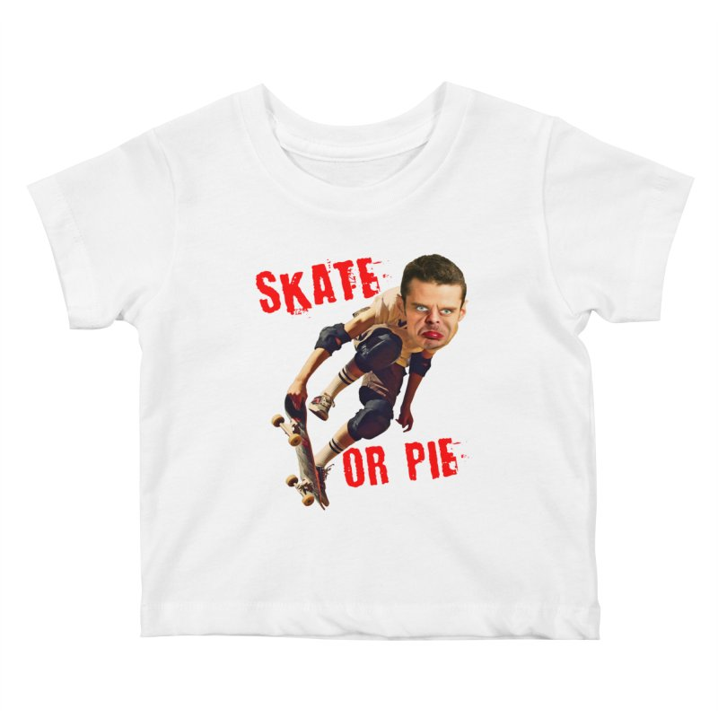 Skate or Pie Kids Baby T-Shirt by The Rake & Herald Online Clag Emporium