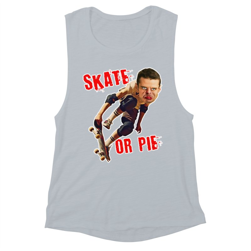 Skate or Pie Women's Muscle Tank by The Rake & Herald Online Clag Emporium
