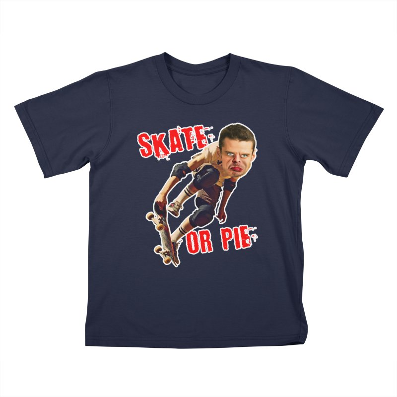 Skate or Pie Kids T-Shirt by The Rake & Herald Online Clag Emporium