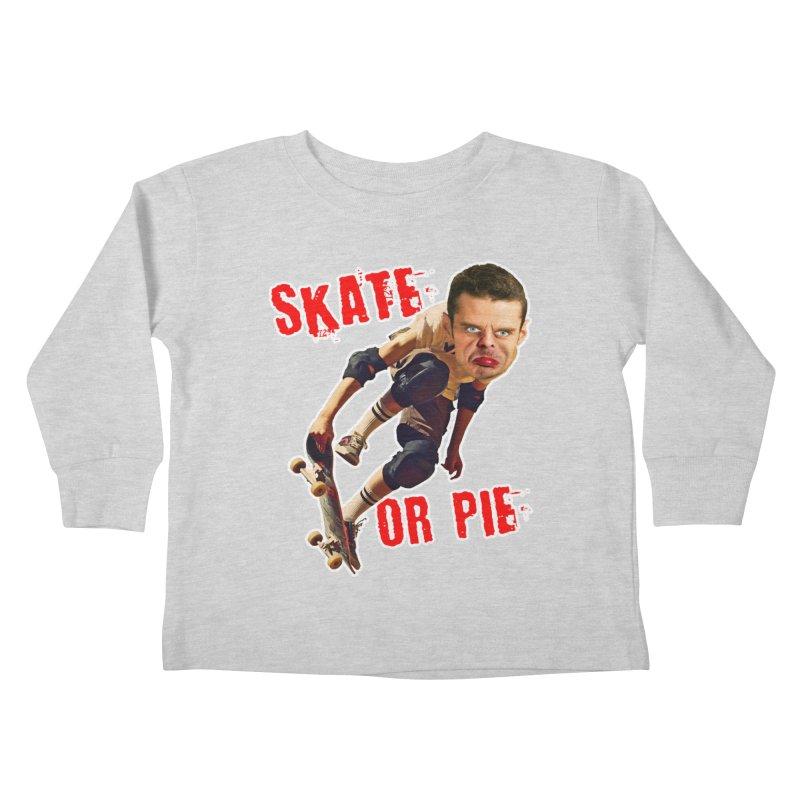 Skate or Pie Kids Toddler Longsleeve T-Shirt by The Rake & Herald Online Clag Emporium