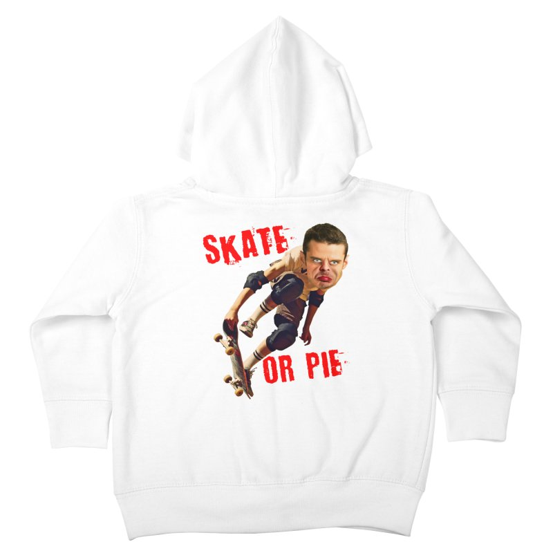 Skate or Pie Kids Toddler Zip-Up Hoody by The Rake & Herald Online Clag Emporium