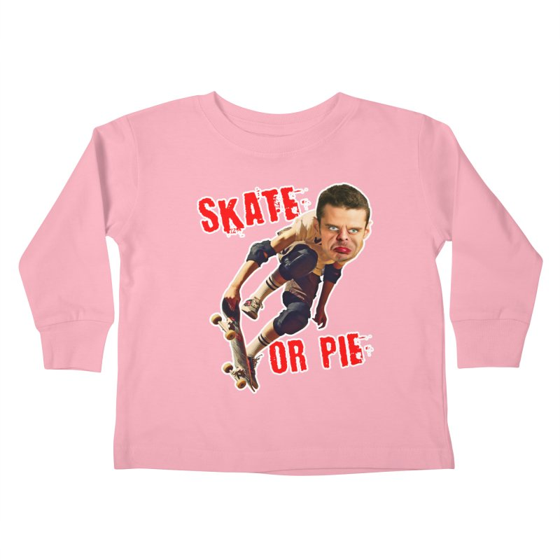 Skate or Pie Kids Toddler Longsleeve T-Shirt by The Rake & Herald Online Clag Emporium