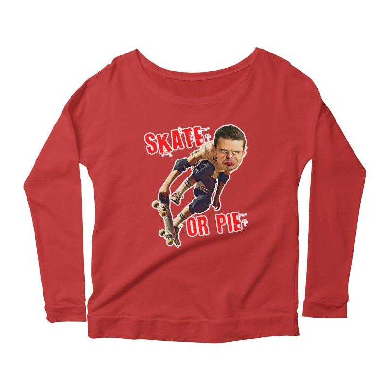 Skate or Pie Women's Scoop Neck Longsleeve T-Shirt by The Rake & Herald Online Clag Emporium