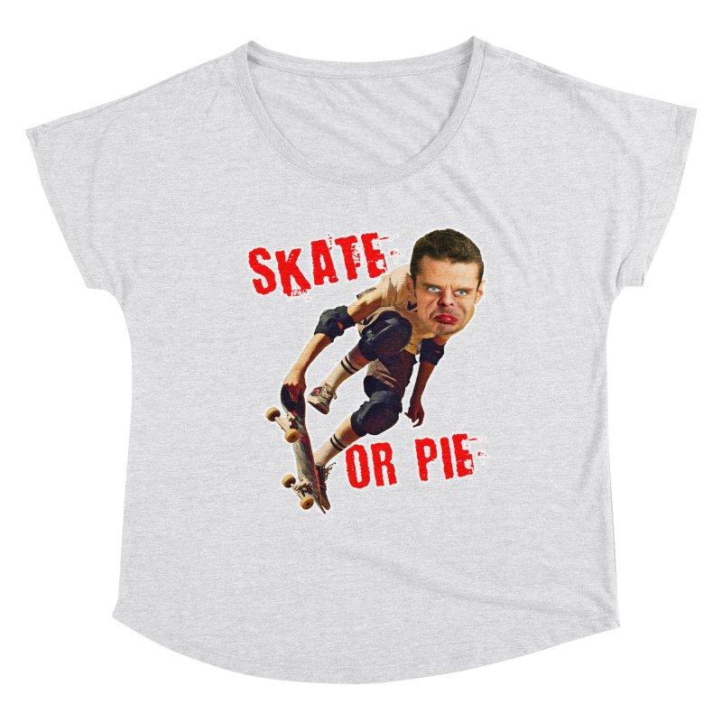 Skate or Pie Women's Dolman Scoop Neck by The Rake & Herald Online Clag Emporium
