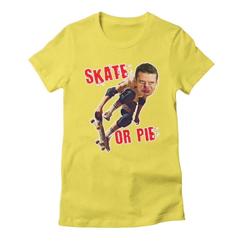 Skate or Pie Women's T-Shirt by The Rake & Herald Online Clag Emporium