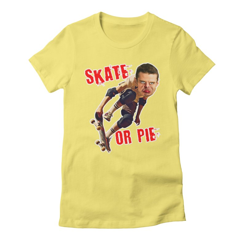 Skate or Pie Women's Fitted T-Shirt by The Rake & Herald Online Clag Emporium
