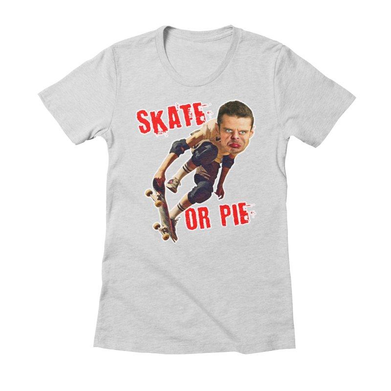 Skate or Pie Women's T-Shirt by The Rake & Herald Online Clag Emporium