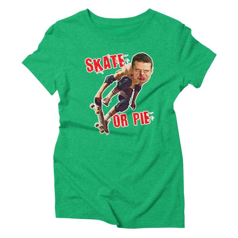 Skate or Pie Women's Triblend T-Shirt by The Rake & Herald Online Clag Emporium