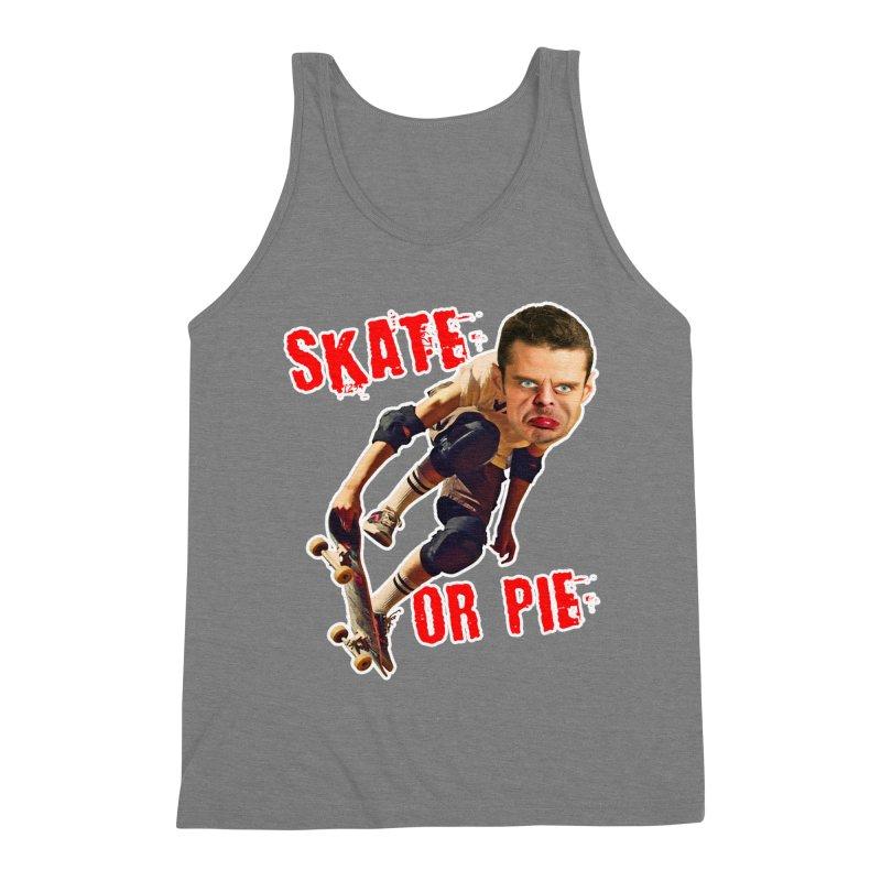 Skate or Pie Men's Triblend Tank by The Rake & Herald Online Clag Emporium