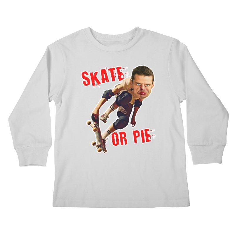 Skate or Pie Kids Longsleeve T-Shirt by The Rake & Herald Online Clag Emporium