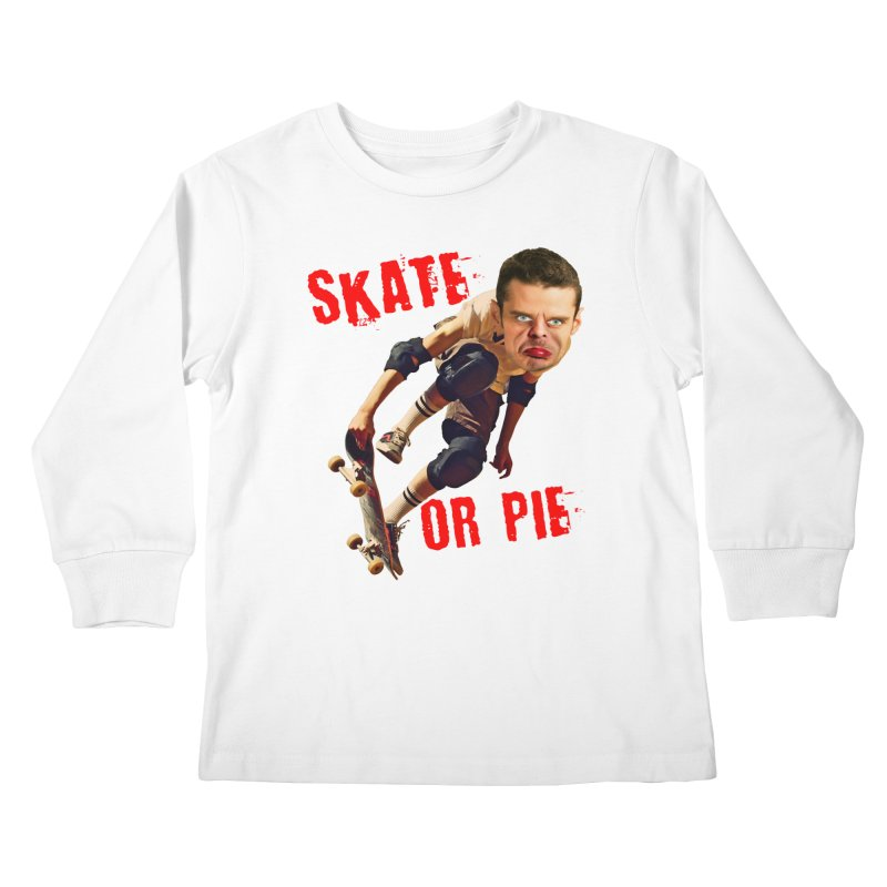 Skate or Pie Kids Longsleeve T-Shirt by The Rake & Herald Online Clag Emporium