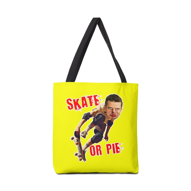 Skate or Pie Accessories Tote Bag Bag by The Rake & Herald Online Clag Emporium