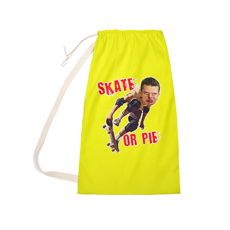 Skate or Pie Accessories Laundry Bag Bag by The Rake & Herald Online Clag Emporium