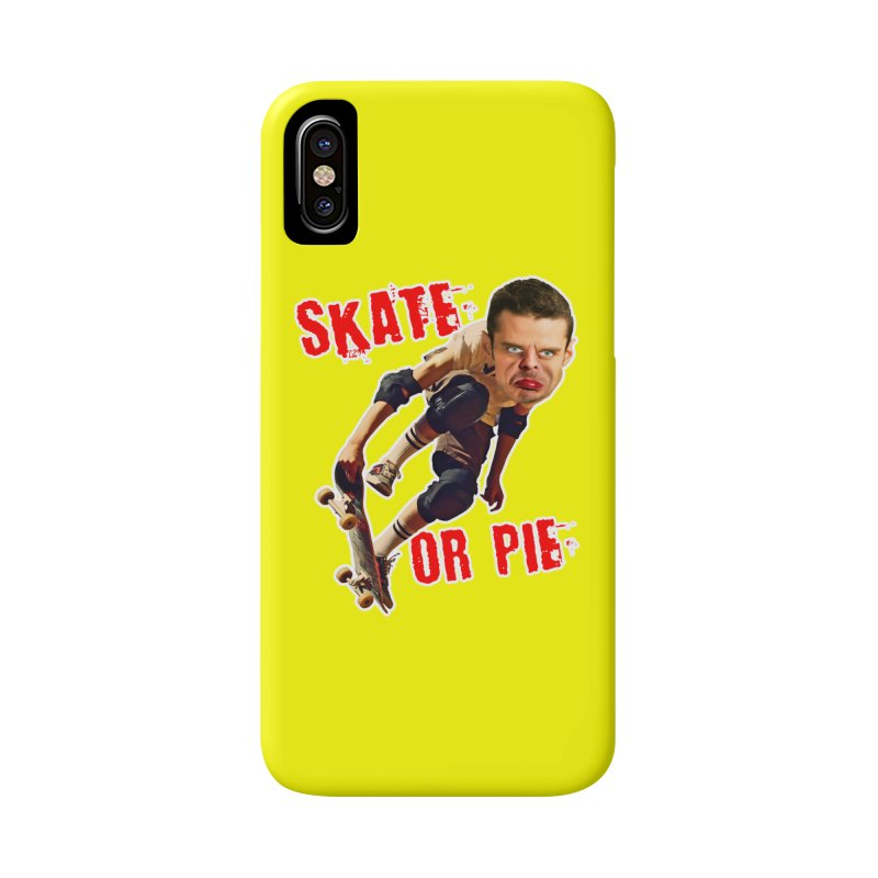 Skate or Pie Accessories Phone Case by The Rake & Herald Online Clag Emporium
